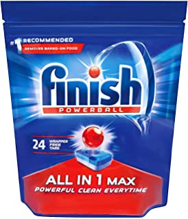 Finish All In One Max Super Charged PowerBall Dishwasher Tablets, 24 count