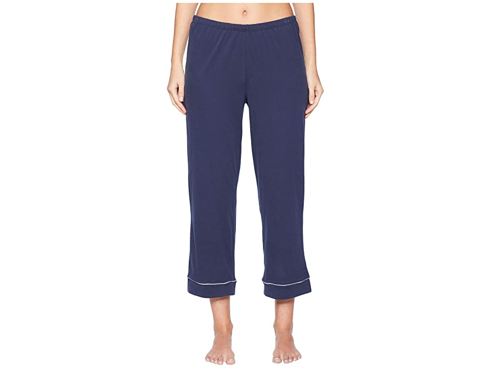 Skin Natural Skin Petra Crop Pants PJ 25 Top and 24 1/2 Pants (Navy) Women
