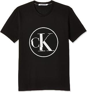 Calvin Klein Men's Round Distorted Ck Tee T-Shirt