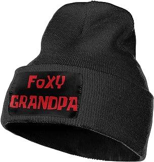Foxy Grandpa Outdoor Hat Knitted Hat Warm Beanie Caps for Men Women Black