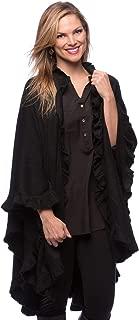ruffle edge shawl