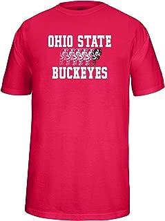 J. America NCAA Ohio State Buckeyes Men's Running Brutus Choice Tee, Red, Small