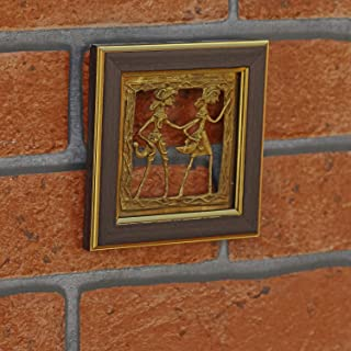 Vintage Gulley Brass Dhokra Art Frame for Home and Wall Decor(465)