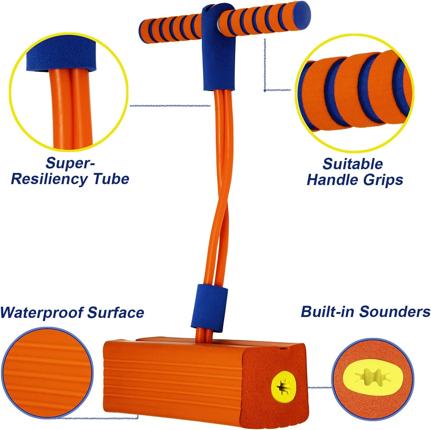 Support 250lbs Foam Pogo Jumper for Kids Fun and Safe with Squeaky Sound G/&S Kids Pogo Stick