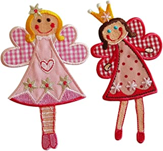 Fairy Sophie 11X7Cm Fairy Jilly 11X7Cm Iron-On Designer Patch Used for Gifts Fabric Clothing Jeans Crafts to Iron On Bag Cap Dresses Bag Hat Cushion Skirt Ceiling Hat Trousers Pants Cap Flag Neckerch