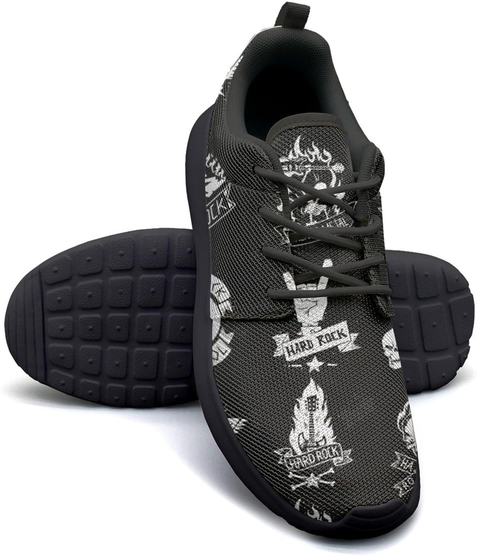 ERSER Heavy Metal Rock Badges Set Womens Lightweight Running shoes