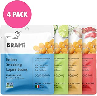 BRAMI Lupini Beans Snack, Variety Pack | 7g Plant Protein, 0g Net Carbs | Vegan,..