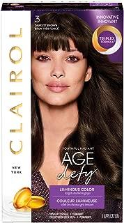 Clairol Age Defy Hair Coloring Tools, 3 Darkest Brown