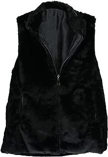 CTM Women's Faux Fur Vest with Pocket