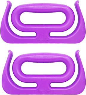 Handzy Grocery Bag Holder Handle, Shopping Bag Holder, Bag Carrier, Bucket Carrier, Holds Up to 100lbs (2 Pack, Purple)