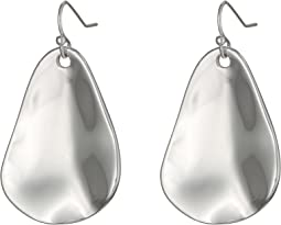Organic Hammered Drop Earrings