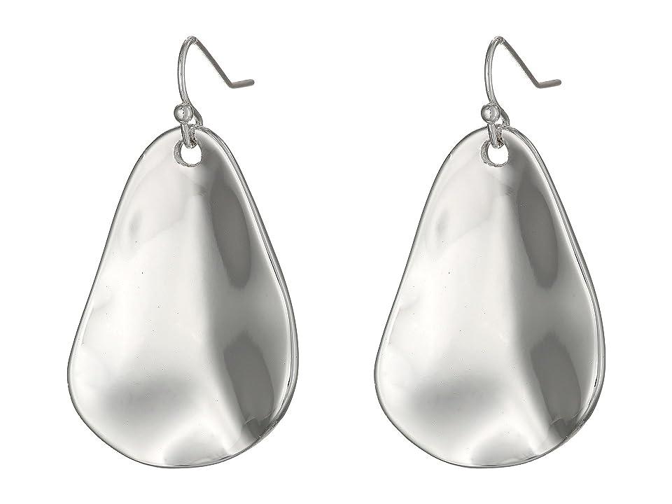Robert Lee Morris - Robert Lee Morris Organic Hammered Drop Earrings  (Silver)