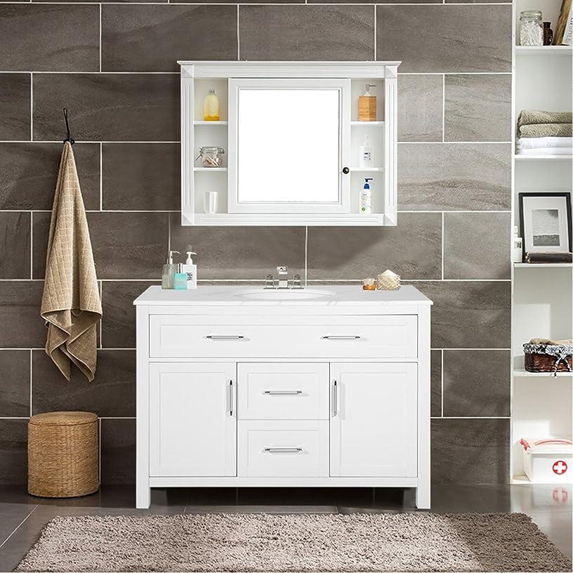 Harper&Bright Designs Bathroom Vanity with Ceramic Sink Top 47