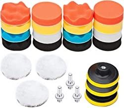 Keenso Roue de Polissage Auto Coton Polissage Roue Polissage Kits pour Automobile Moto 4 pcs Tampon de Polissage
