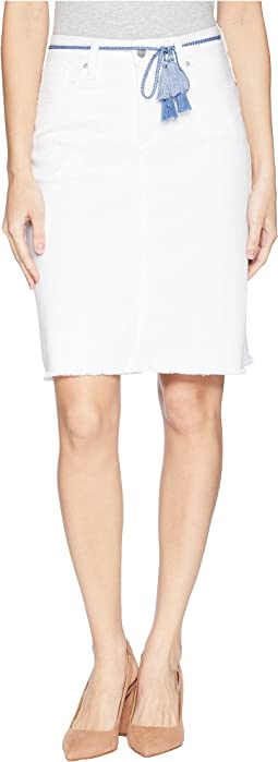 NYDJ Five-Pocket Skirt w/ Tassel Belt