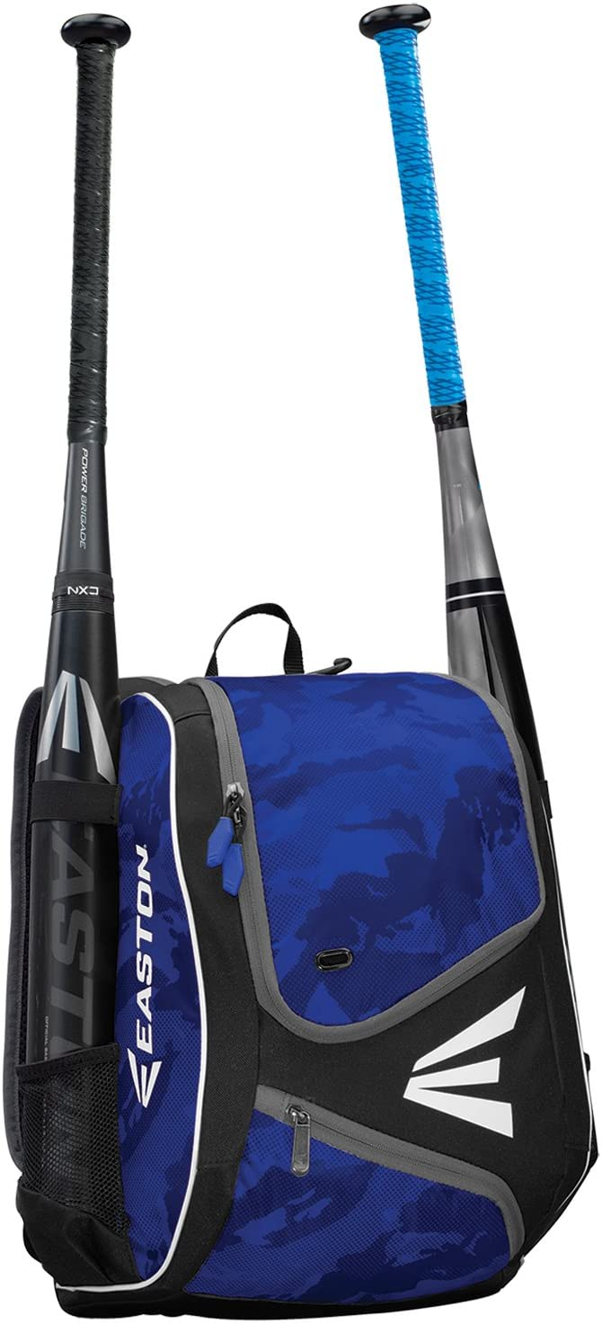 2 Bat Sleeves EASTON E110YBP Youth Bat /& Equipment Backpack Bag Smart Gear Storage Rubberized Zipper Pulls /& Fence Hook for Dugout Functionality 2019 Baseball Softball Valuables Pocket