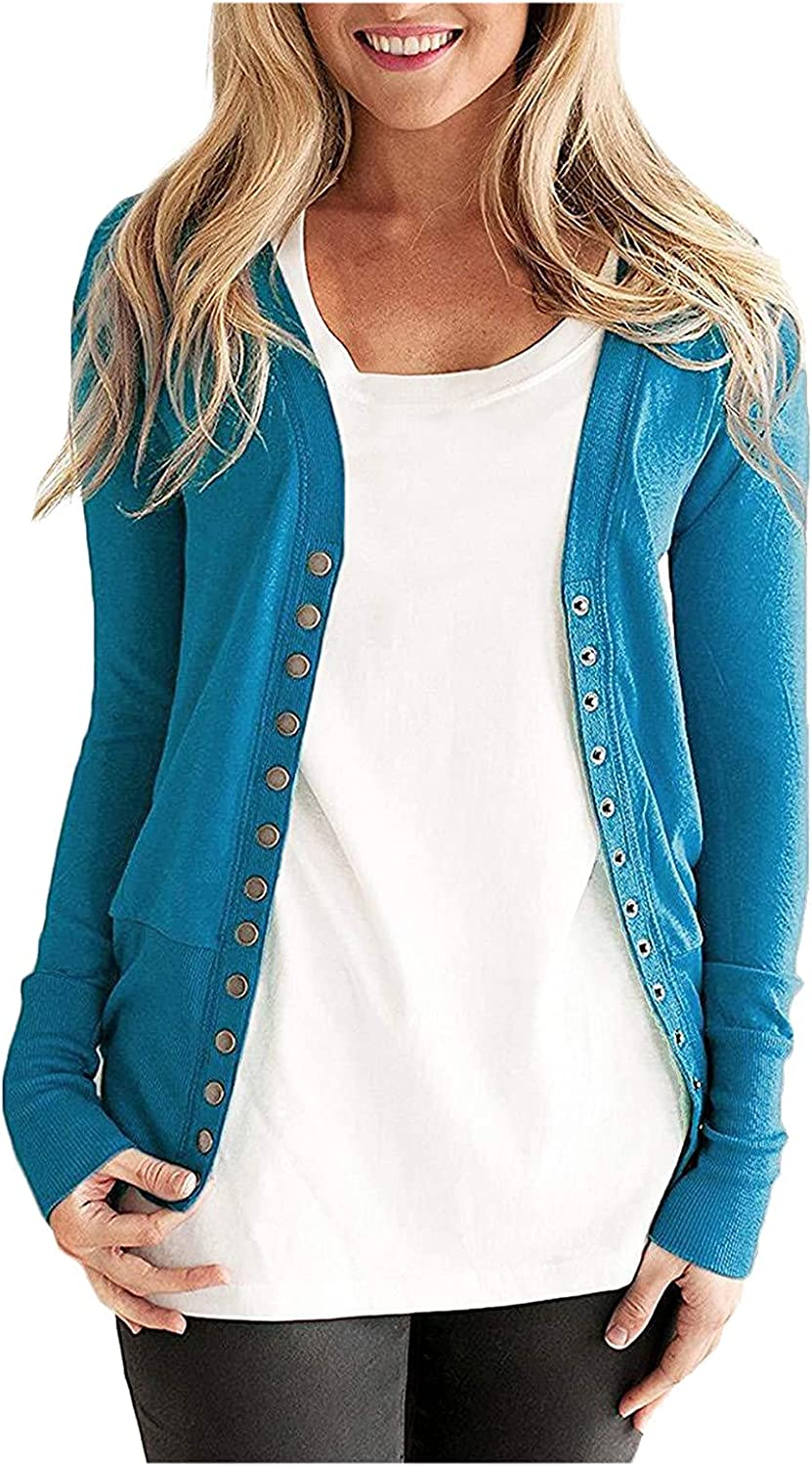 Elegant Button Down Sweater Cardigans for Women, Fashion Color Block Cardigan Cropped v Neck Open Front Cardigans Oversized