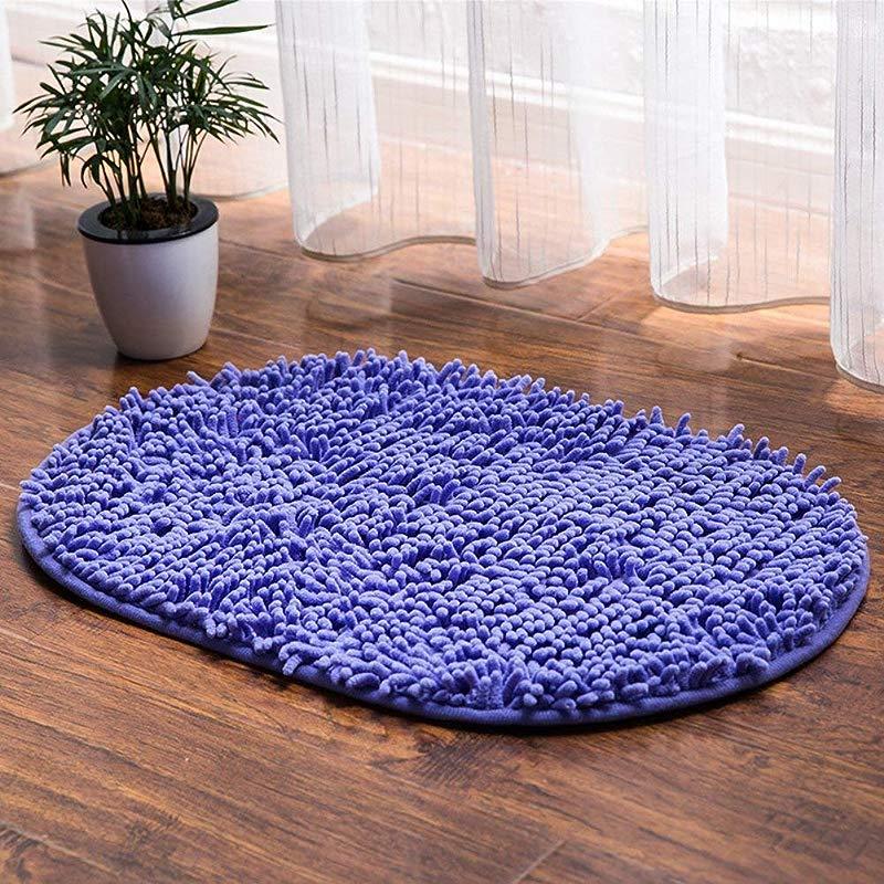 Mat European And American Simple Personality Carpet Floor Solid Color Carpet Bathroom Absorbent European And American Simple Personality Carpet Floor