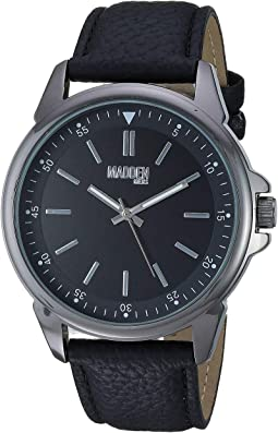 Madden Men Analog Strap Watch with Pendant Necklace SMMS022