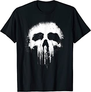 Marvel The Punisher Scary Grungy Skull Logo Graphic T-Shirt