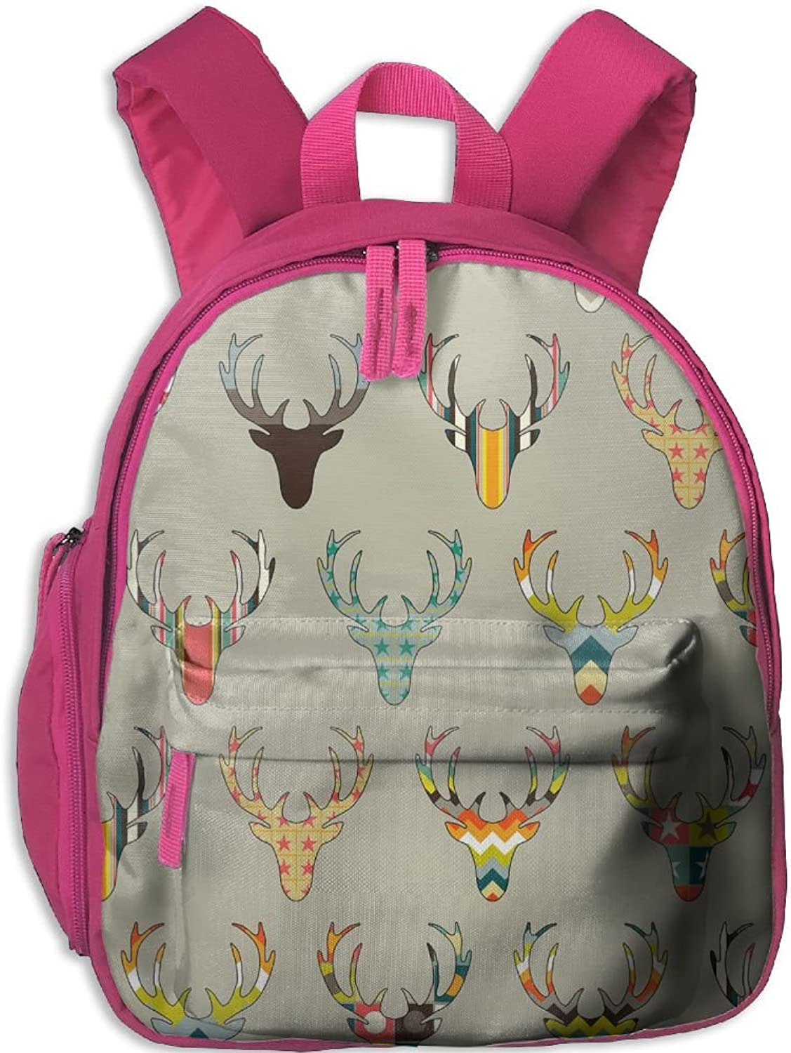 School Bag Woodland Deer Head(2611) With Durable Travel Camping Backpack For Boys And Girls