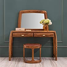 JSZMD Combination of Solid Wood Dressing Table New Chinese Style Bedroom Make-up Table Ebony Drawer to Store Make-up Table...