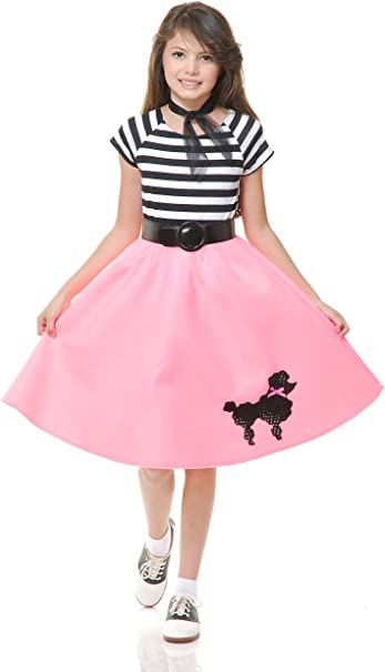 Red Charades Womens Poodle Skirt Large