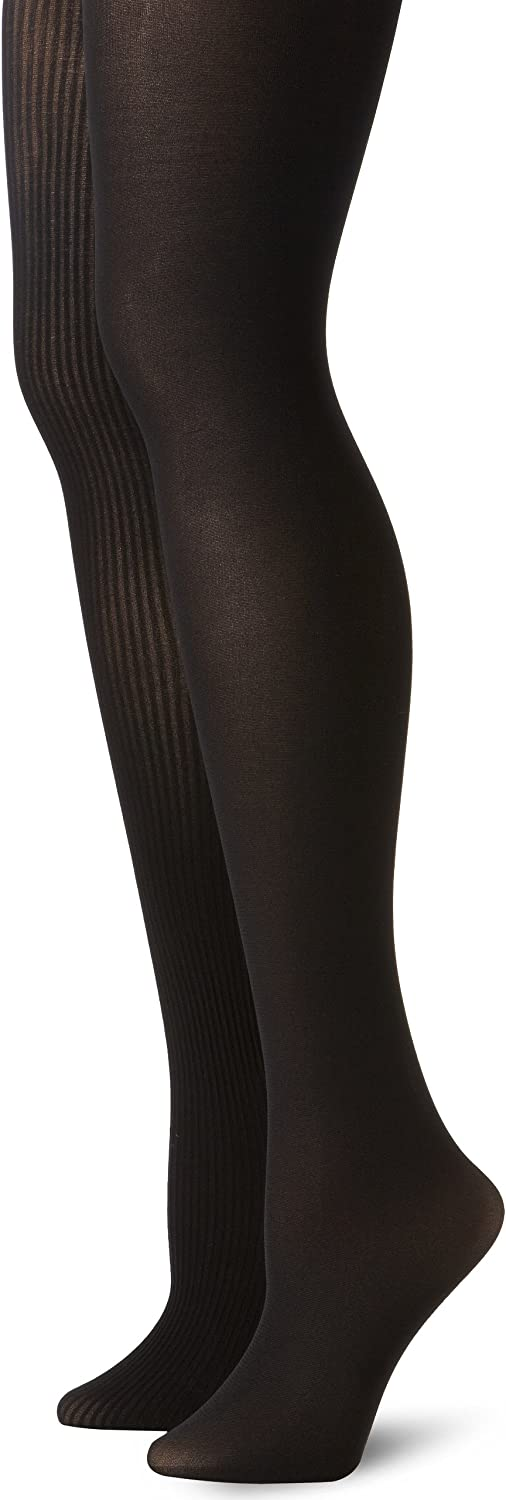 Anne Klein Women's Two-Pack Ribbed Tights