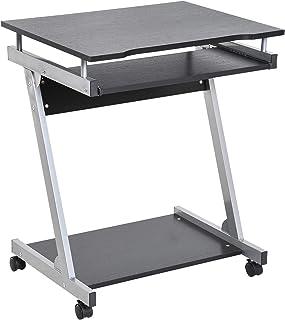 comprar comparacion HOMCOM Mesa de Ordenador Escritorio de Computadora para Hogar Oficina en Forma Z Mesa Compacta con Ruedas 60x48x73cm Color...