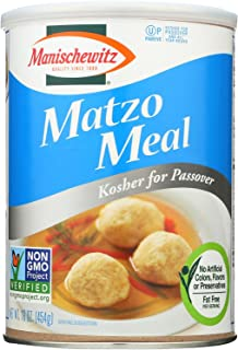 Manischewitz Matzo Meal Kosher For Passover Canister, 16 Ounce