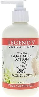 Pink Grapefruit Goat Milk Lotion - 9 Oz Bottle - Paraben Free, Gentle & Natural - Certified Cruelty Free