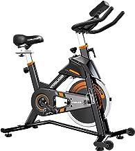دوچرخه دوچرخه سواری داخلی YOSUDA ثابت - دوچرخه ورزشی برای بدنسازی خانگی با بالشتک راحتی ، درایو کمربند خاموش ، دارنده iPad