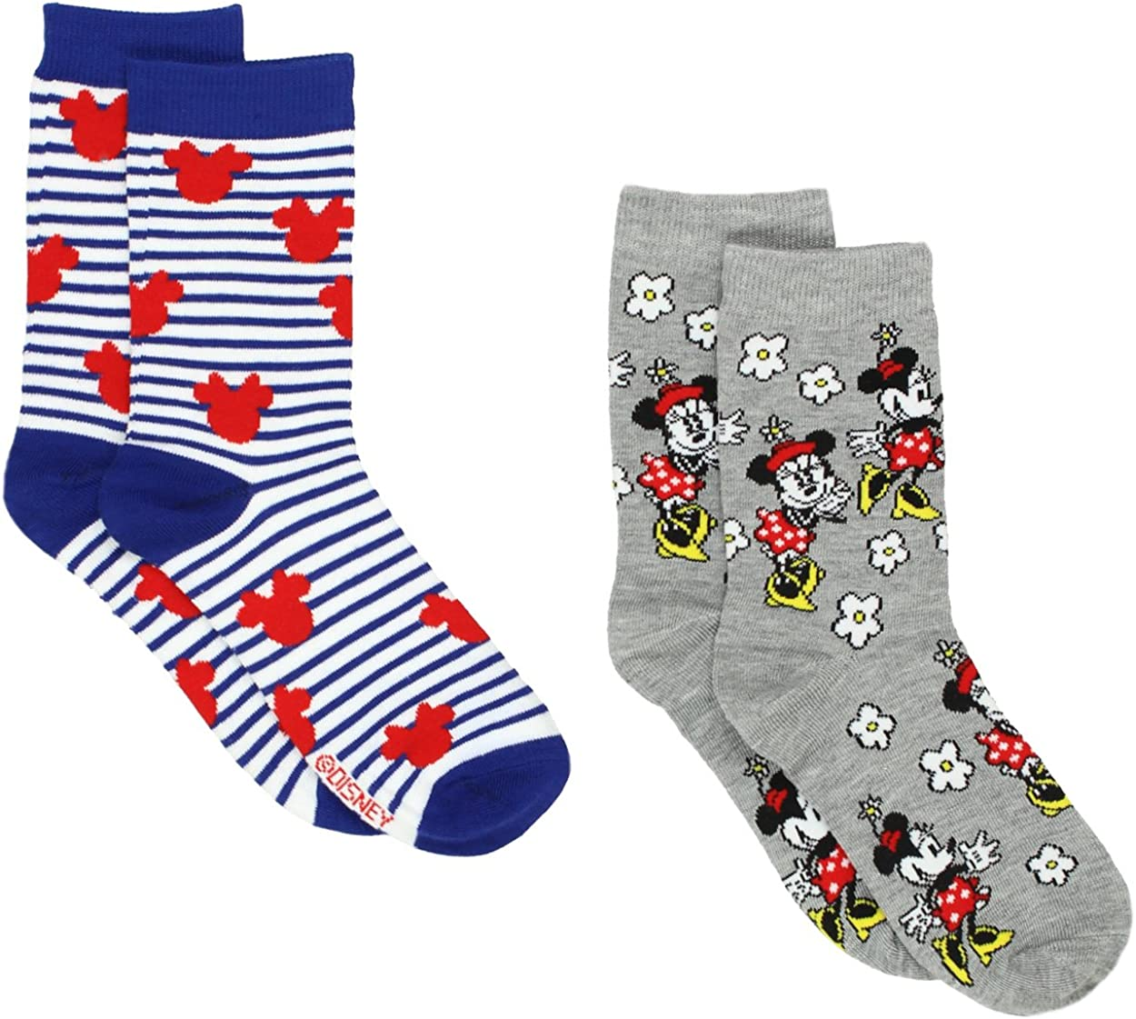 Minnie Mouse Womens 2 pack Socks (Big Kid/Teen/Adult)