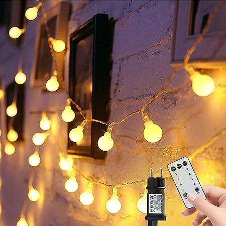 Guirlande Lumineuse, 15M 100 Ampoules, Guirlande Lumineuse Led à Boules Blanc Chaud, Décoration Romantique Pour la Décoration Extérieure, Maison, Jardin, Intérieure Fête Noël, Mariage Soirée