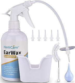 Earwax Removal Tool Kit - HailiCare Earwax Washer System Including Ear Washer Bottle, Ear Basin, Bulb Syringe, 5 Soft Disp...