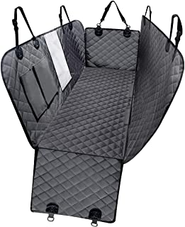DKIIGAME Dog Car Seat Covers, Dog Car Hammock with Mesh Window, Heavy Duty Car Seat Covers for Dogs,100% Waterproof Anti-Slip 600D Oxford Cloth Dog Seat Cover for Back Seat