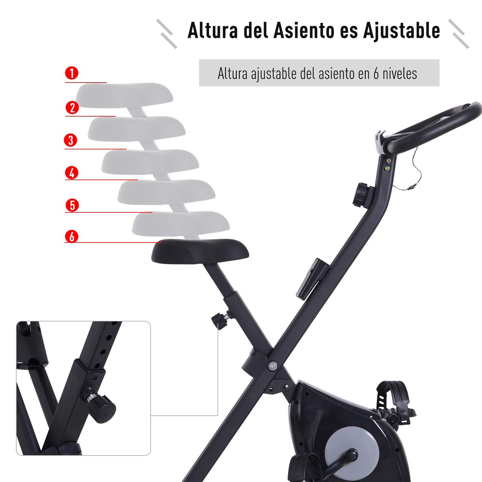 HOMCOM Bicicleta Estática Plegable Magnética X-Bike Bicicleta ...
