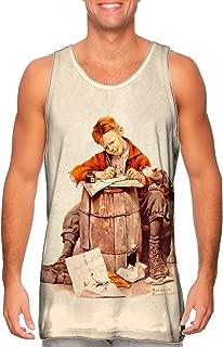 Yizzam- Norman Rockwell - Little Boy .-Tshirt- Mens Tank Top 1959