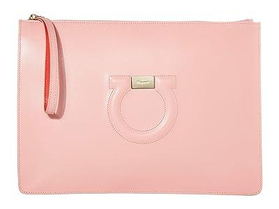 Salvatore Ferragamo City Wristlet (Desert Rose) Handbags
