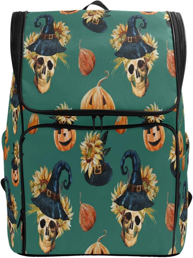 MRMIAN Watercolor Halloween Sugar Skull 40% OFF Cheap half Sale Pattern S Large Capacity
