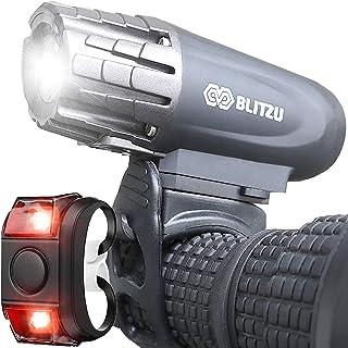 BLITZU Bike Lights Set USB Rechargeable Gator 320 Lumens...