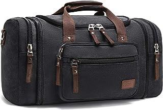 Canvas Reisetaschen, Fresion Großräumige Handtasche Schultertasch Herren Weekender Sporttasche Damen Reisetasche mit 2 Sei...