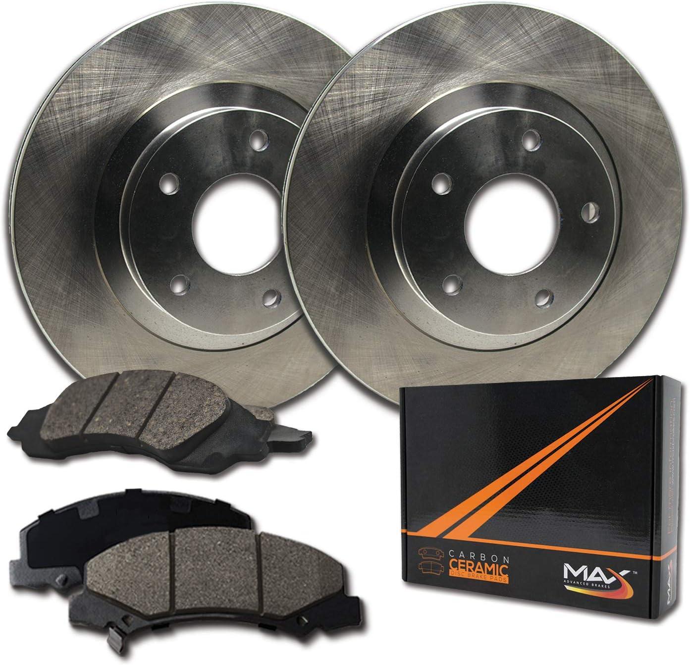 Rear Max Brakes Premium OE Popular Rotors Pads Ceramic KT1 Carbon with Latest item