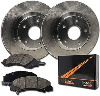 Max Brakes Rear Premium Brake Kit [ OE Series Rotors + Ceramic Pads ] KT083642 Fits: 2006-2015 Toyota RAV4 | 2010-2012 Lexus HS250H