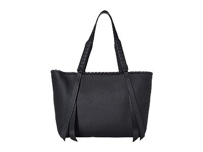 AllSaints Kepi Small East/West Tote (Black) Handbags