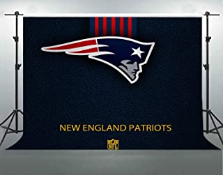 Football Theme Photography Backdrop, 7x5ft Soft Cotton Washable, New England Patriots NFL Backgrounds, Party Events Decor Supplies Banner, YouTube Photo Shooting Props LYFS1420