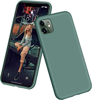 """DTTO iPhone 11 Case, [Romance Series] Full Covered Shockproof Silicone Cover [Enhanced Camera and Screen Protection] with Honeycomb Grid Pattern Cushion for Apple iPhone 11 6.1"""" 2019, Midnight Green"""