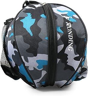 Decdeal Sports Ball Round Bag Basketball Shoulder Bag Soccer Ball Football Volleyball Carrying Bag Travel Bag for Men and ...
