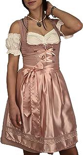 Golden Trachten Dirndl Set Trachtenkleid Rosa Weiß gepunktet Gr 34 bis 42 517GT