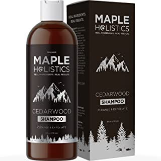 Anti-Dandruff Thickening Shampoo with Cedarwood Essential Oil - Stop Hair Loss + Promote Hair Growth -Treat Psoriasis Flak...